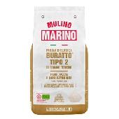 """Farina Tipo 2 di Grano Tenero """"Buratto"""" da Agricoltura Biologica Macinata a Pietra Naturale - Mulino Marino"""