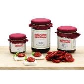 Pomodoro ciliegino Siciliano secco con basilico Casa Morana