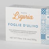 Foglie d'ulivo pasta di emola di grano duro con spinaci da agricoltura Biologica - Pasta di Liguria