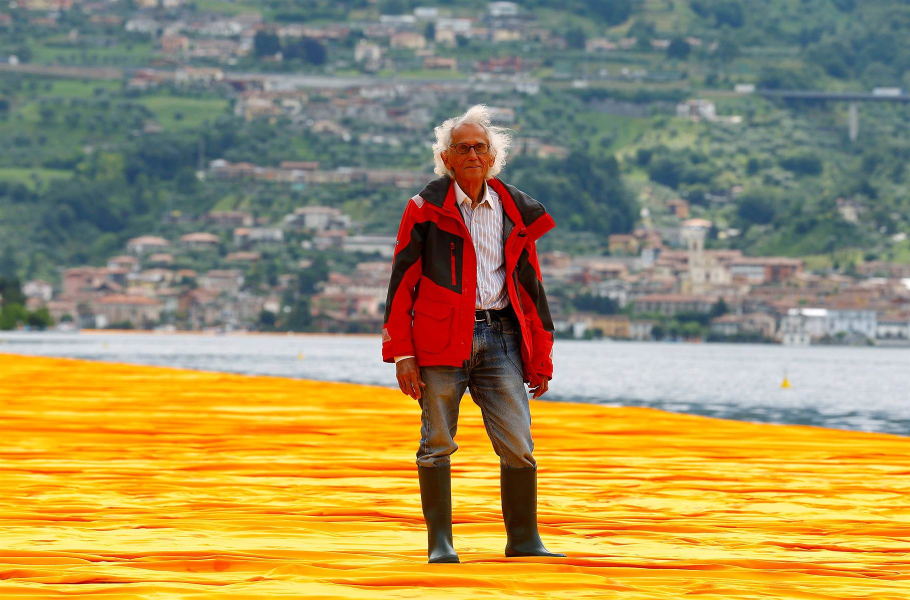 The Floating Piers, la nuova opera di Christo sul lago d'Iseo
