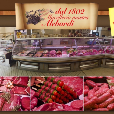 La boucherie Mastra Alebardi, depuis 1802, poursuit l'art du couteau.