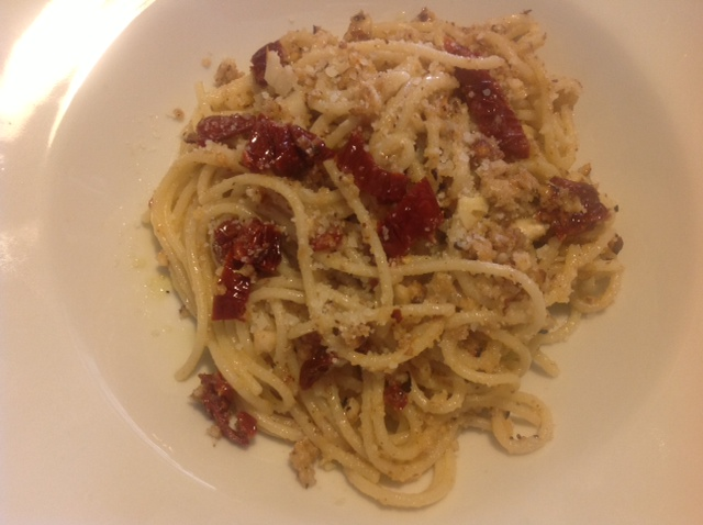 Spaghetti al Kamut Arconatura con Capuliato de tomate cherry Casa Morana