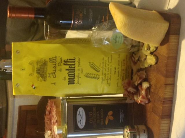 Fusilli with fresh pork salamini and potatoes