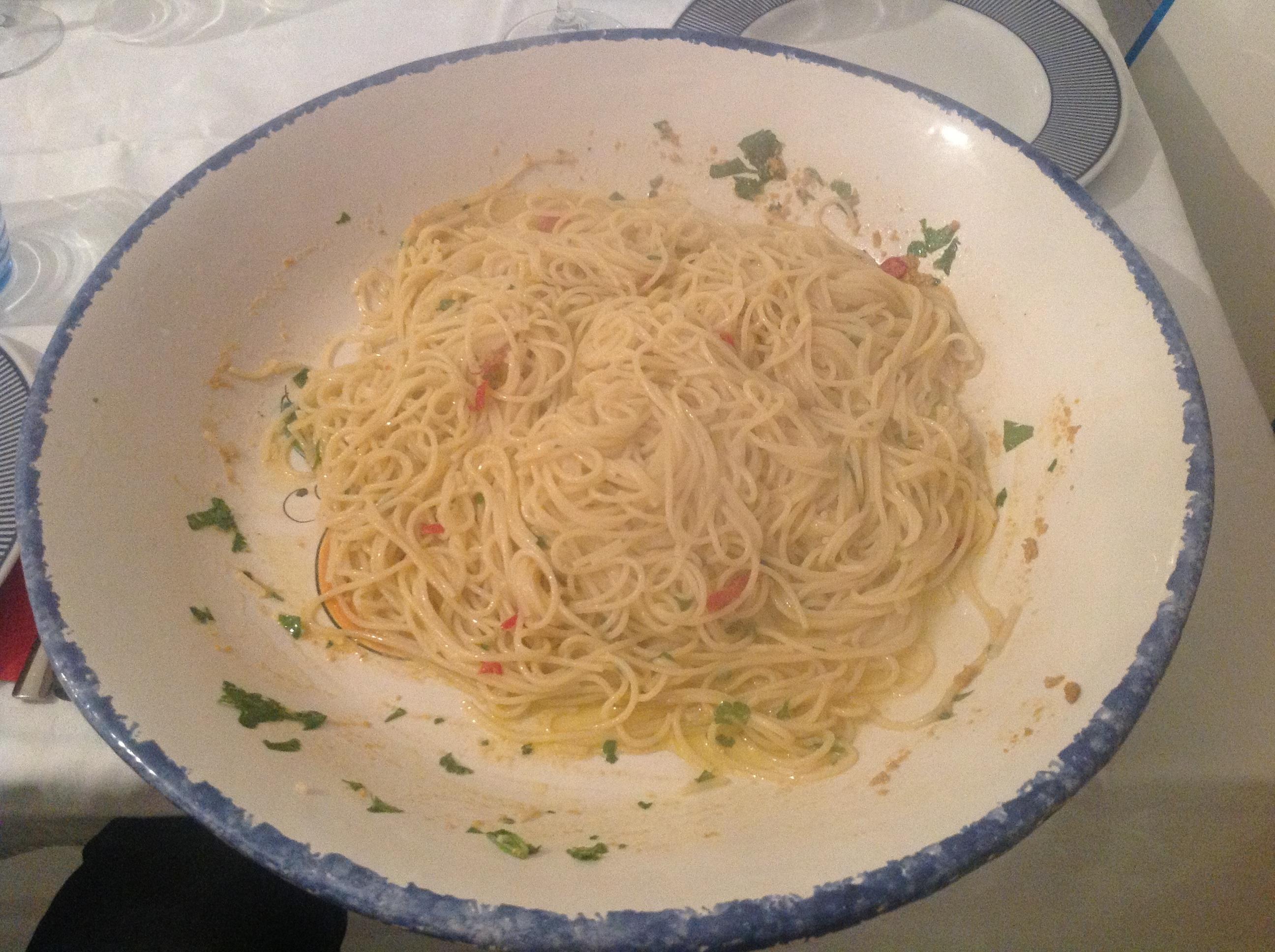 Spaghettini Pastificio Martelli con Polpa di Granchio del Mediterraneo Stefano Rocca