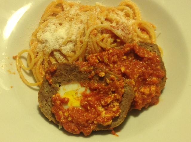 """Spaghetti  """"De Carolis"""" con Polpettone al Sugo"""