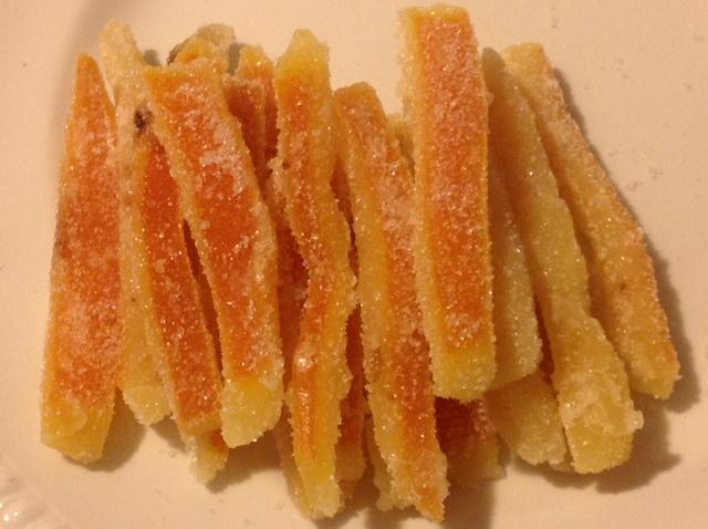 A recipe by Donatella - Candied orange peel