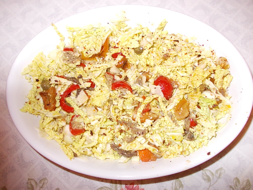 Salade van savooiekool met anjovis