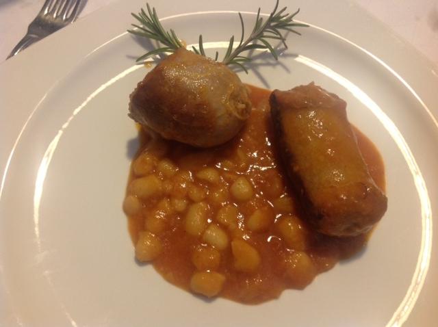 Chorizo Al Berlinghetto con Frijoles Cannellini a la Salvia