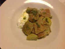 Testaroli al Pesto e Burrata