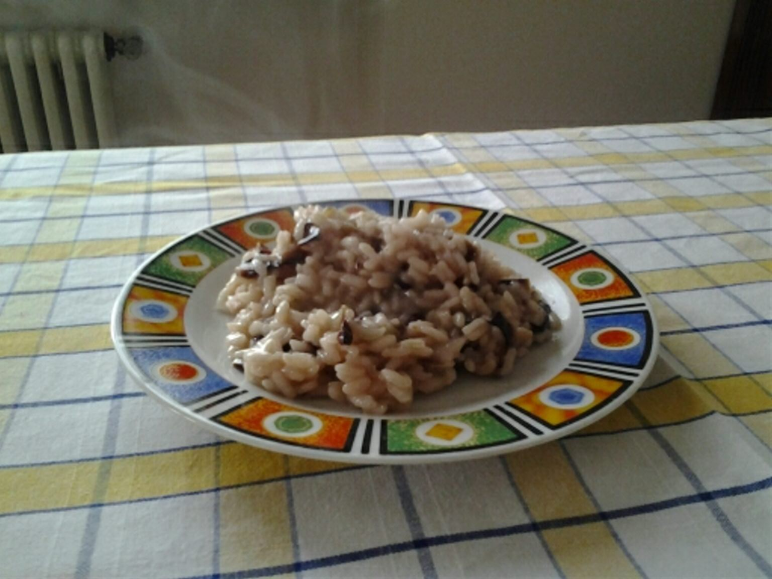 Risotto with radicchio and montasio (cheese) DOP