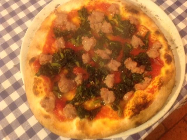 Pizza with turnip and salamino