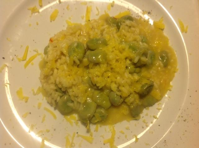 Riso alla Leonfortese (Sizilianischer Reis mit dicken Bohnen)