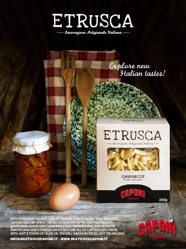 Das Pastificio Caponi präsentiert seine neue Linie an Eiernudeln