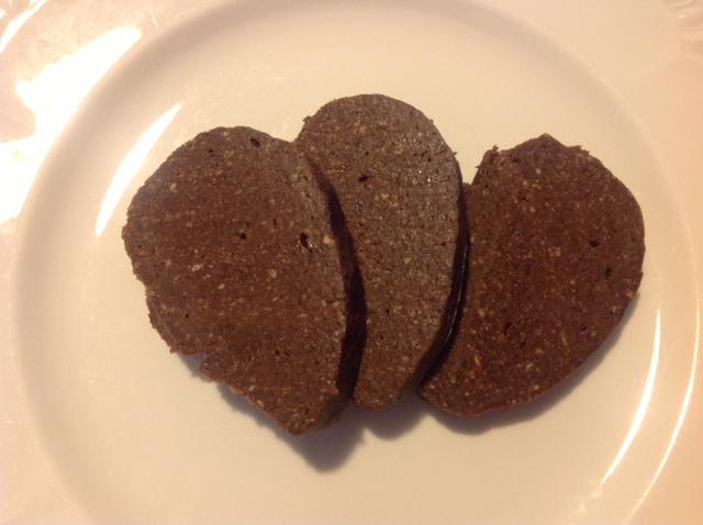 Recette postée par Silvia: Saucisson de Chocolat avec les Amandes Siciliennes de Castelluzzo