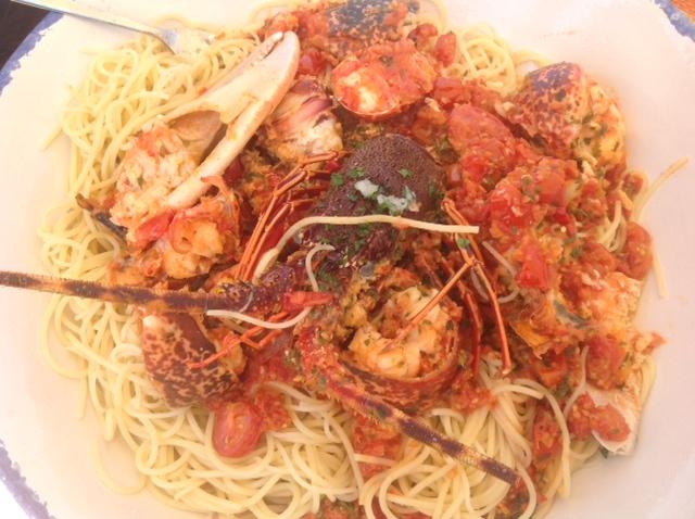 Spaghetti mit Langusten-Sauce