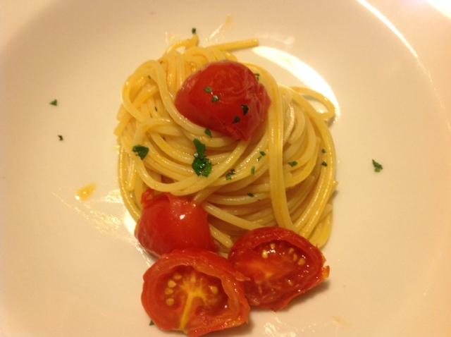Spaghetti mit frischen Corbara Tomaten