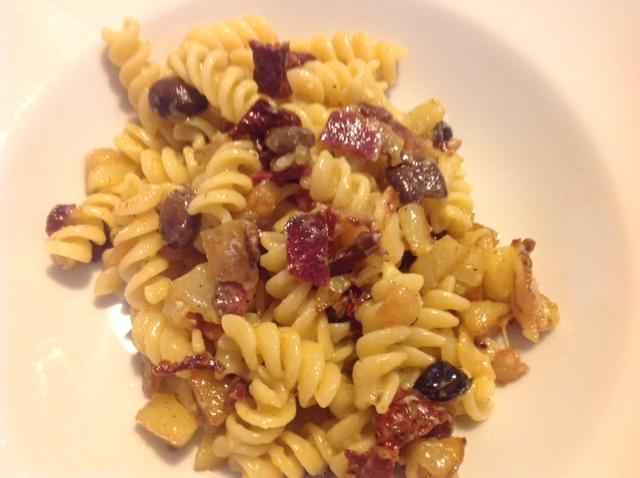 Fusilli Pastificio Mancini  con patate e Rigatino di Cinta Senese - Guanciale - La Cinta di Guido
