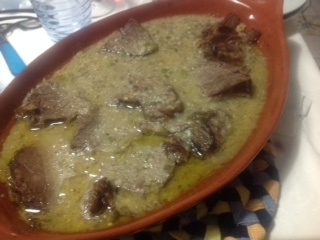 A recipe by Francesca: beef in in olive oil