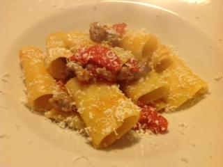 Paccheri Gragnano in Corsa con Salamella Azienda Agricola Marchesini