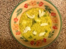 A recipe by Danielle: Asparagus risotto with caciocavallo and burrata