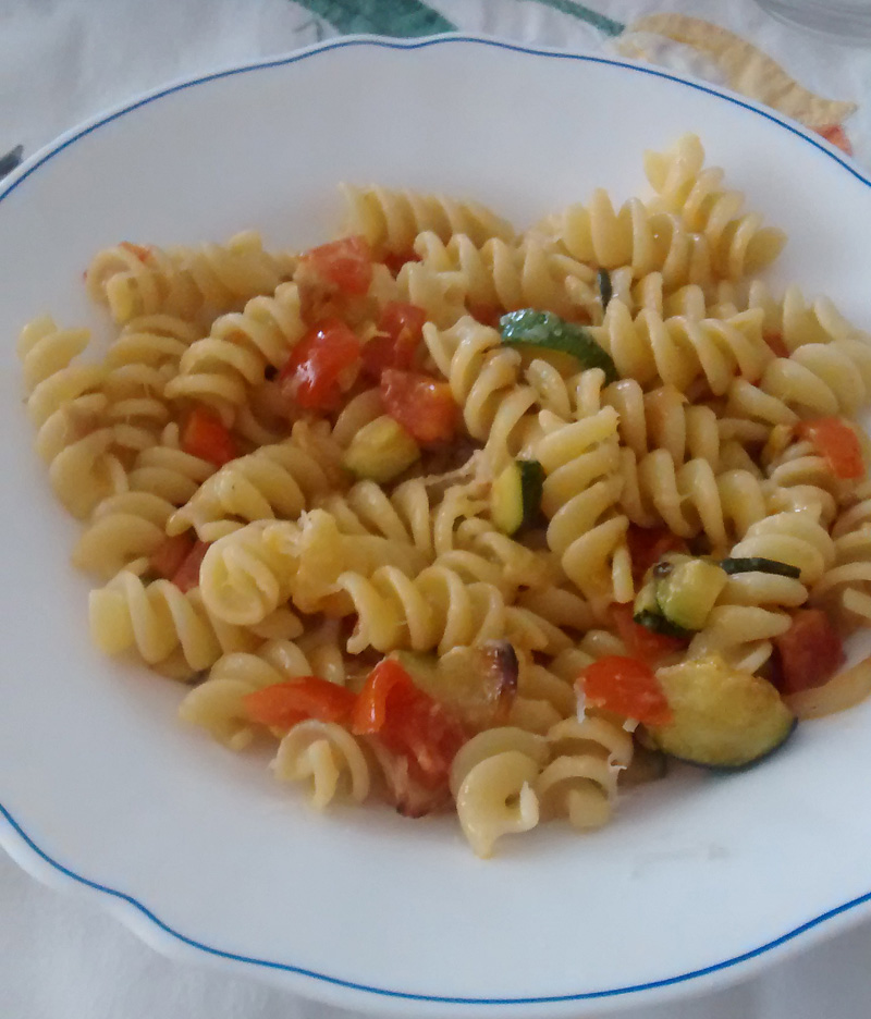 A recipe by Luca: Fusilli with seasonal vegetables