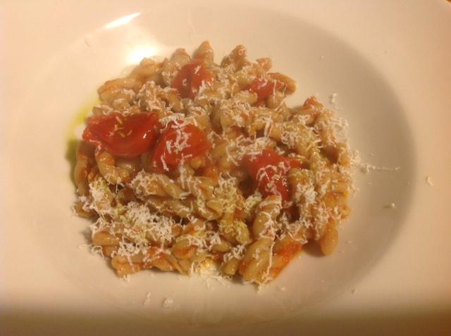Gemelli aus Tumminia Weizen mit Pomodorini del Vesuvio DOP