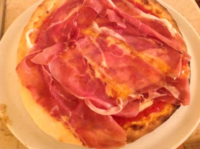 Pizza Mozzarella  di Bufala e Prosciutto crudo
