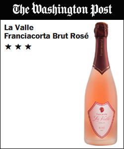 Recensione di La Valle Rose Franciacorta Brut del 'The Washington Post'