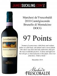 Brunello di Montalcino DOCG 2010: E' un vino di grande struttura, elegante, equilibrato, con profumi intensi e grande finezza.