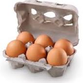 Uova di gallina allevate a terra