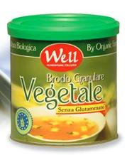 Brodo granulare VEGETALE BIO senza glutammato, magro tutto vegetale e ricco di estratti di lievito e succo di carote lattina litografata richiudibile
