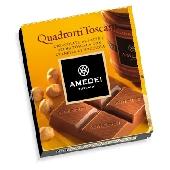 Quadrotti Cioccolato al Latte con ripieno Crema Toscana