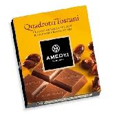 Quadrotti Cioccolato al Latte con ripieno Croccantino