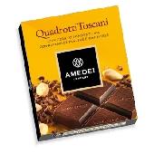 Quadrotti Cioccolato Fondente Amedei con ripieno Pralin�