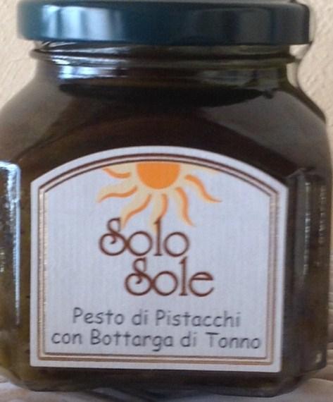 Pesto di Pistacchi di Bronte con Bottarga di Tonno Rosso del Mediterraneo - SoloSole