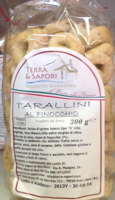 Tarallini al Finocchio - Terra Dei Sapori