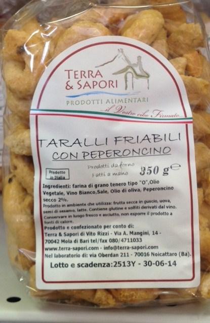 Taralli Friabili Con Peperoncino - Terra dei Sapori