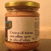 Crema di Tonno con Olive Nere in Olio di Oliva