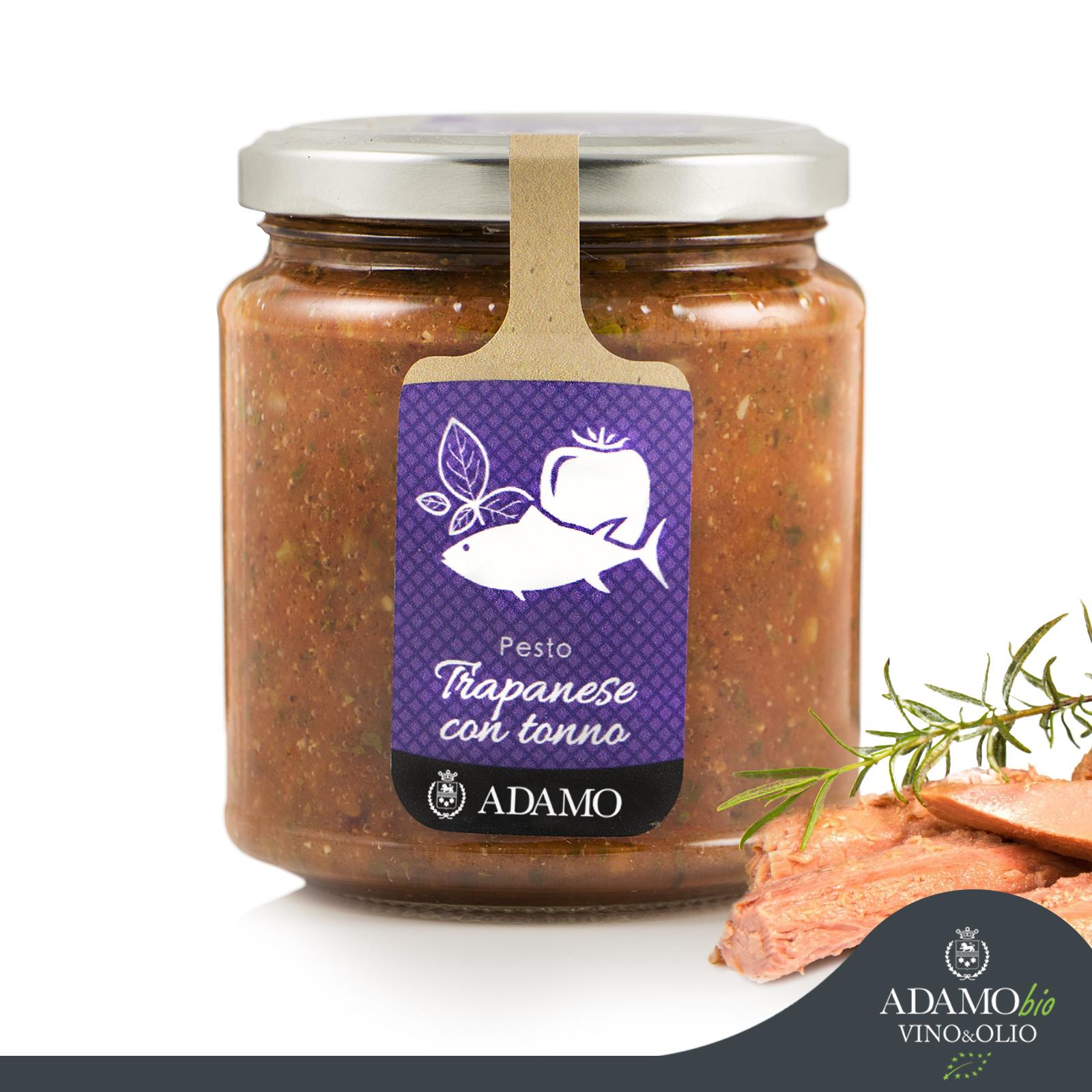 Pesto Trapanese con Tonno - Azienda Agricola Biologica Adamo