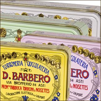 Torroncini assortiti in eleganti scatole di metallo  - Torronificio Barbero
