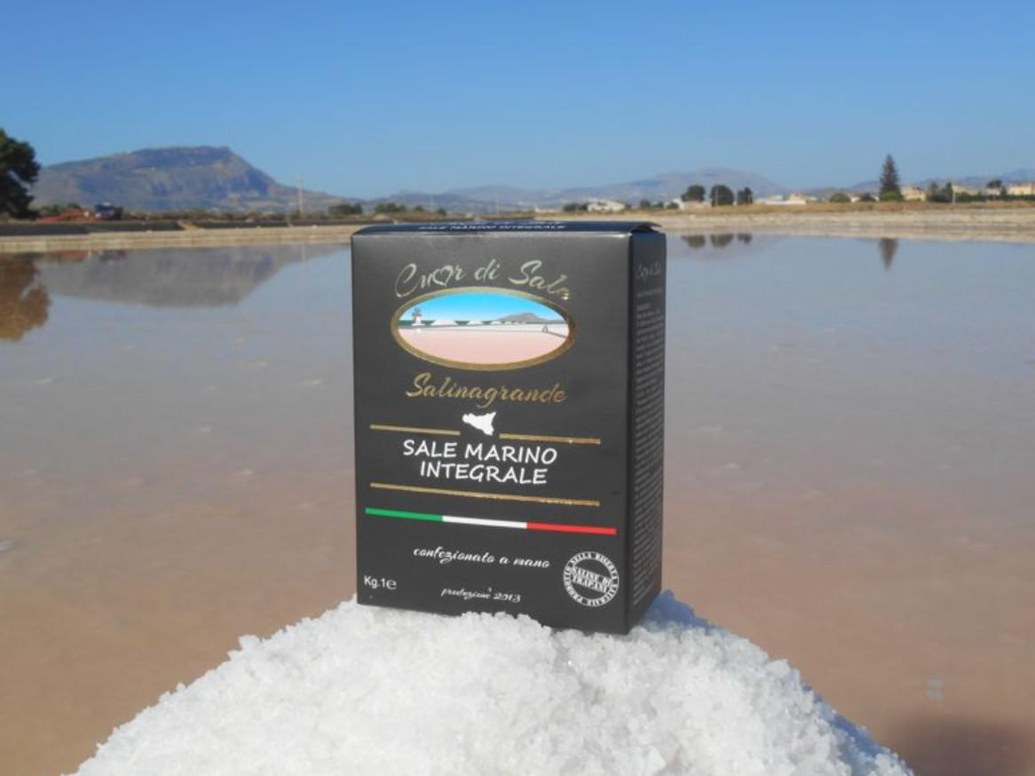 Sale Marino Fine Integrale Raccolto a Spalla - Cuordisale - Salinagrande