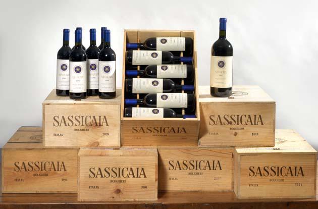 Cassa in legno Sassicaia - Tenuta San guido