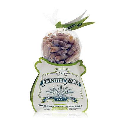 Mezzi rigatoni di semola integrale di grano duro biologico - Pasta Benedetto Cavalieri