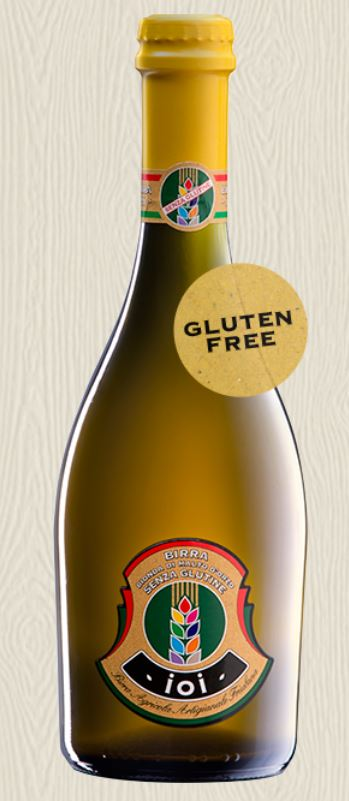 Birra IOI bionda di malto d�orzo senza glutine - Birrificio Gjulia