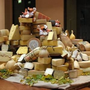 Assaggio di sei formaggi italiani