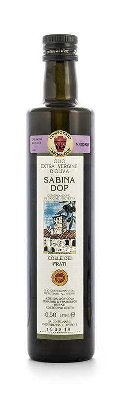 Olio extra vergine di oliva Sabina DOP  Colle dei Frati -  Az. Agricola F.lli Rosati