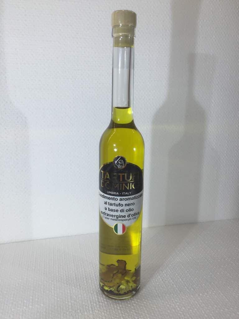 Condimento aromatizzato al tartufo nero a base di olio extravergine di oliva - Tartufi Dominici