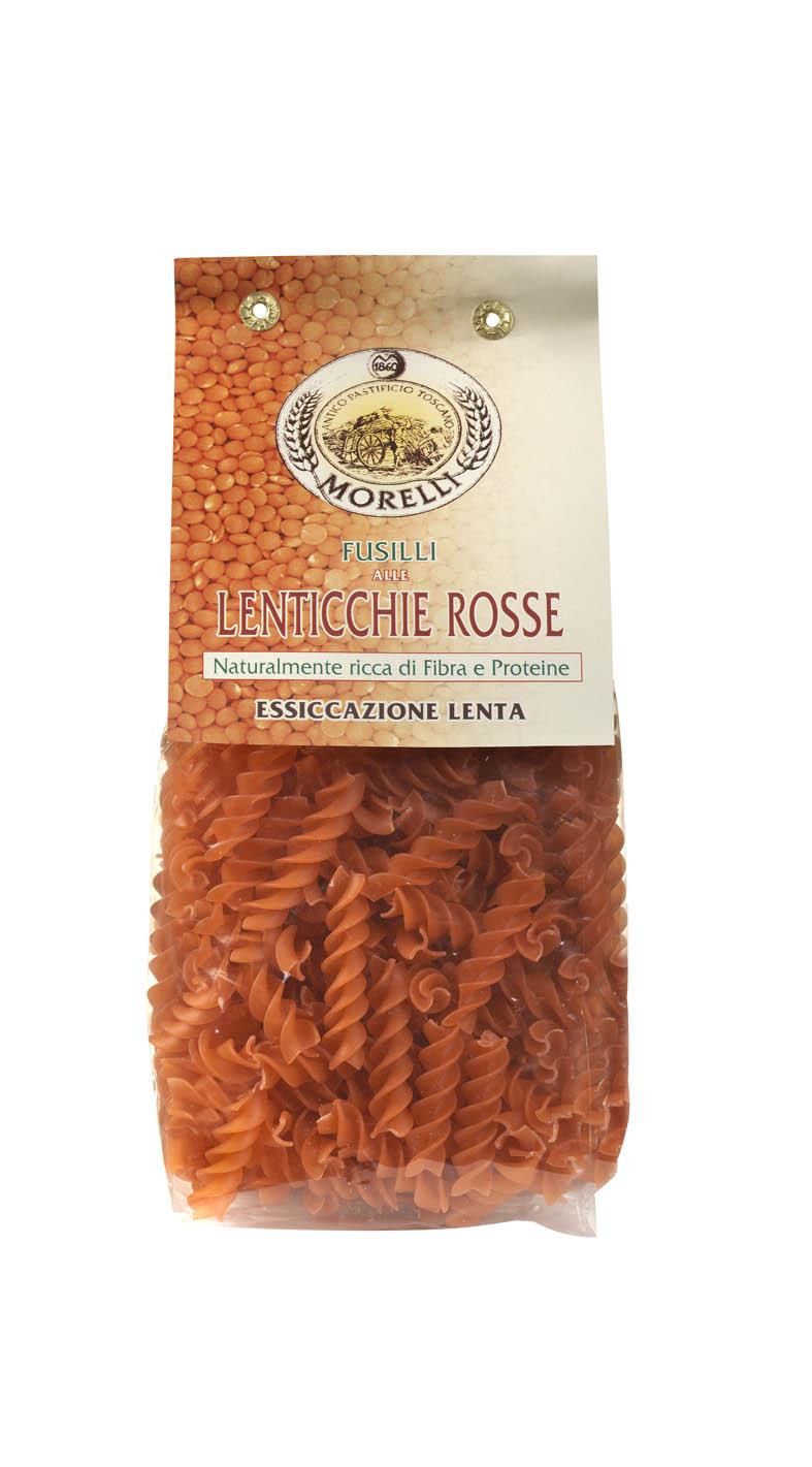 Fusilli lenticchie rosse - Pastificio Morelli