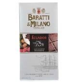Tavoletta di Cioccolato Fondente 75% Ecuador - Baratti & Milano